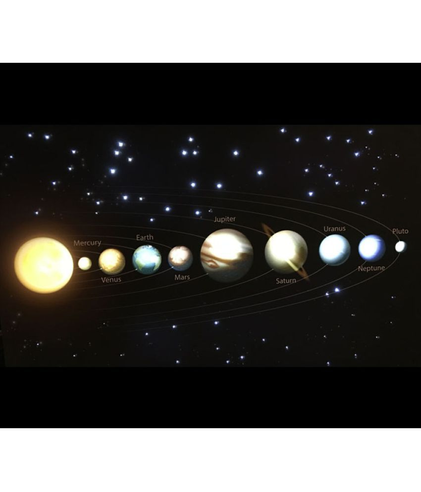 Dont Drool Solar System Canvas Painting With Frame Single Piece