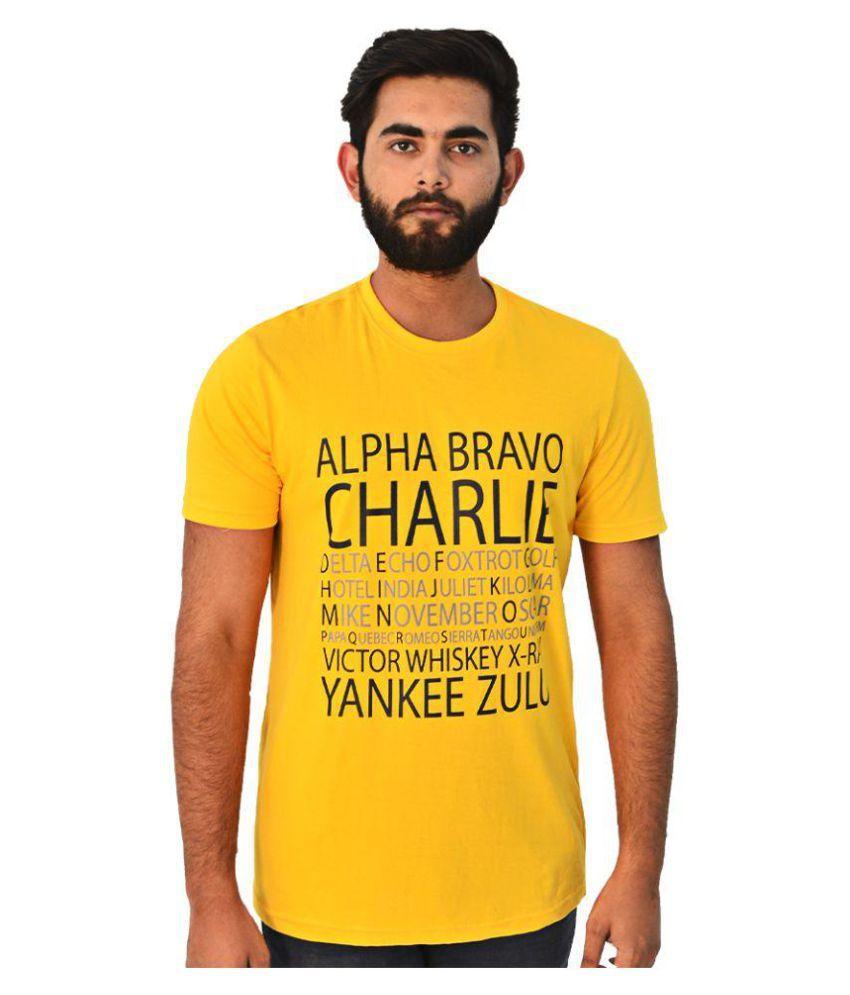 Ellipsis Yellow Round T-Shirt