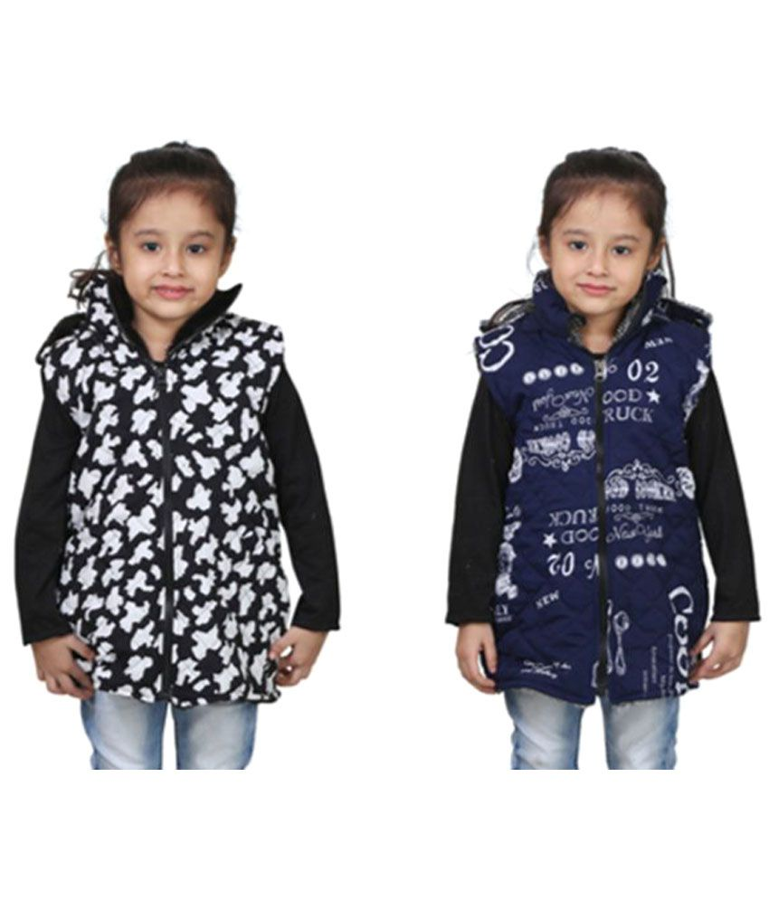 Qeboo Multicolour Light Weight Jacket Pack of 2