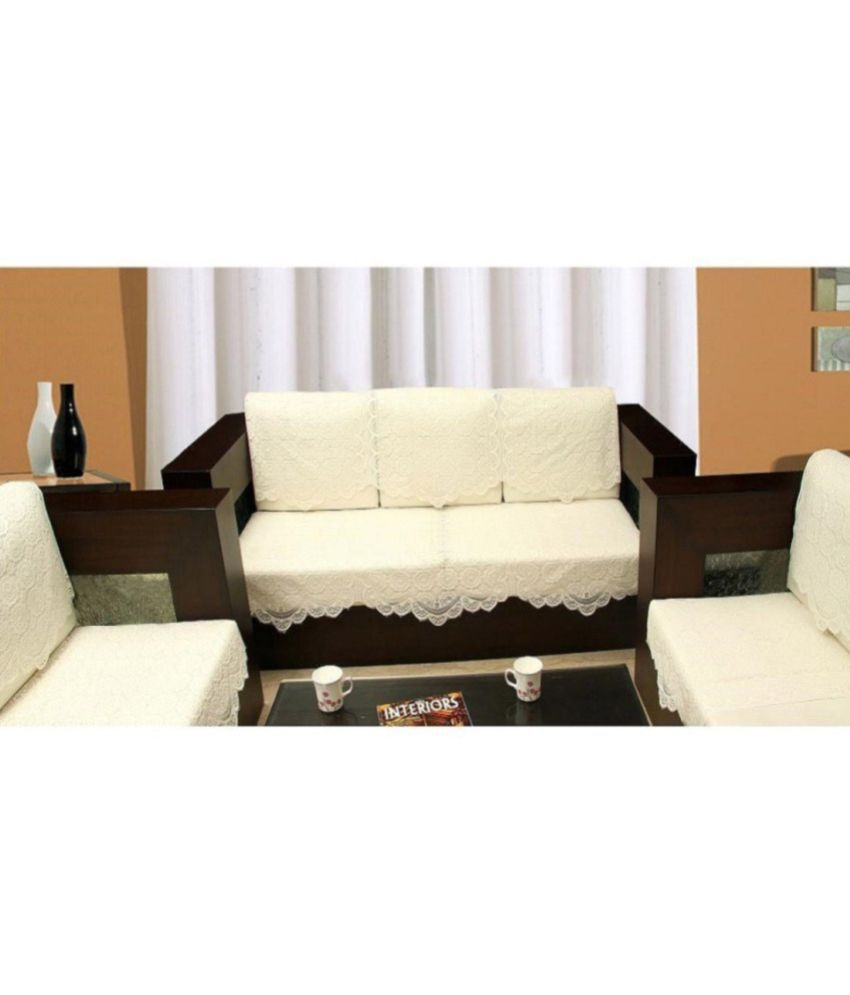 Griiham 5 Seater Poly Cotton Set of 10 Sofa Cover Set