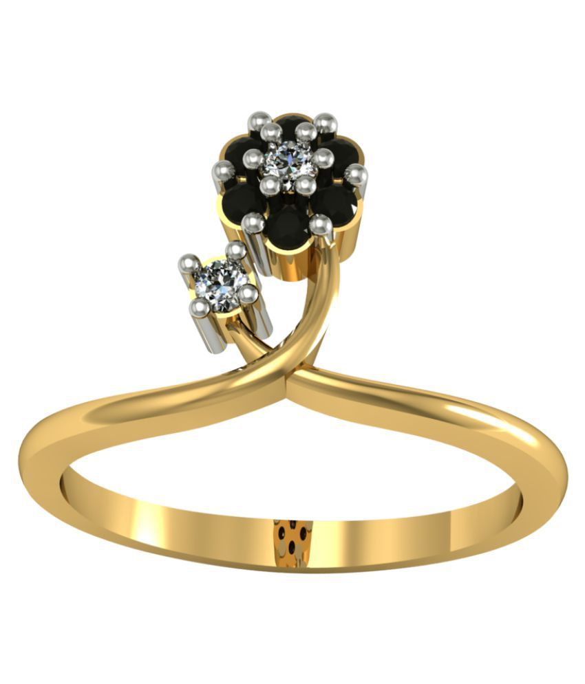 Suvam Jewels 18k Gold Swarovski Ring