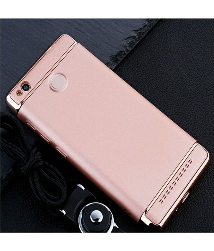 reputable site f101c 294eb Xiaomi Redmi 3s Prime Cover by Click n PICK - Rose Gold