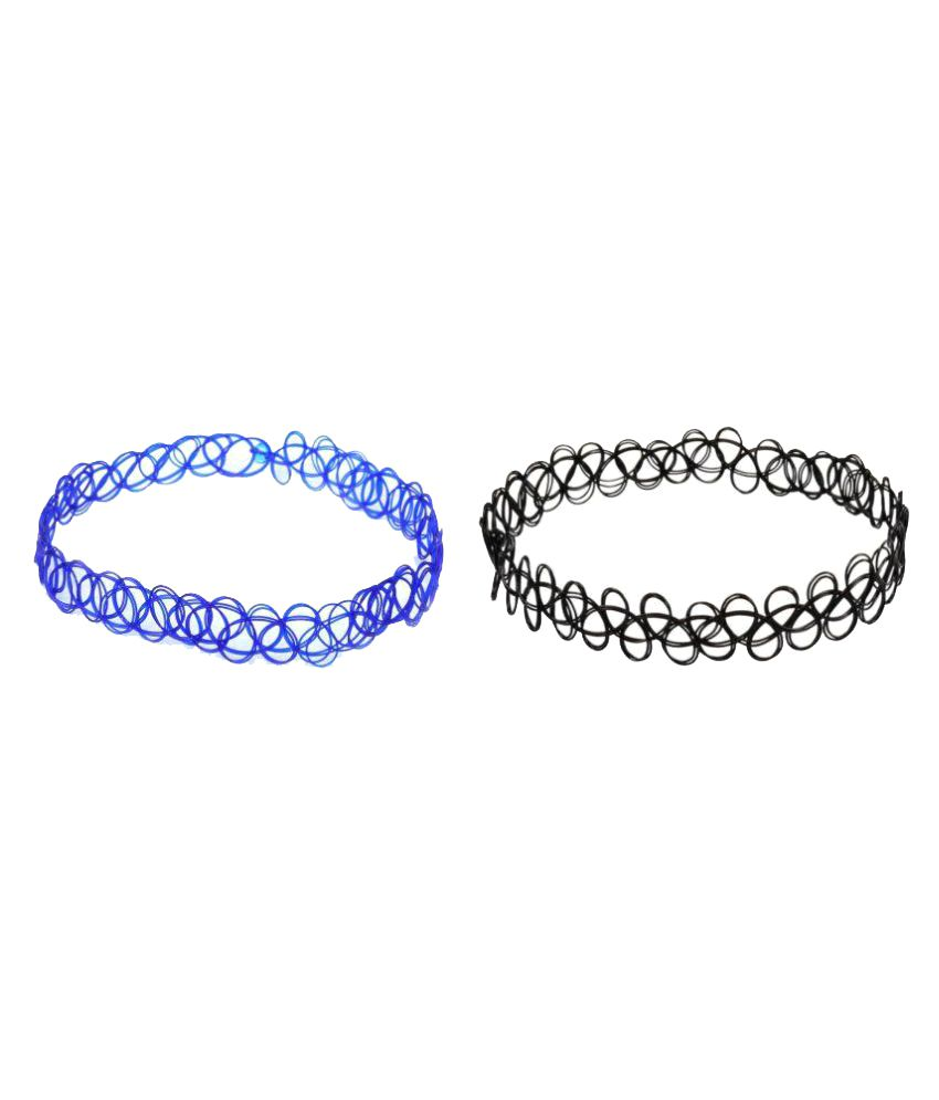 KooKoo Fashion Multicolour Choker Necklace - Pack of 2