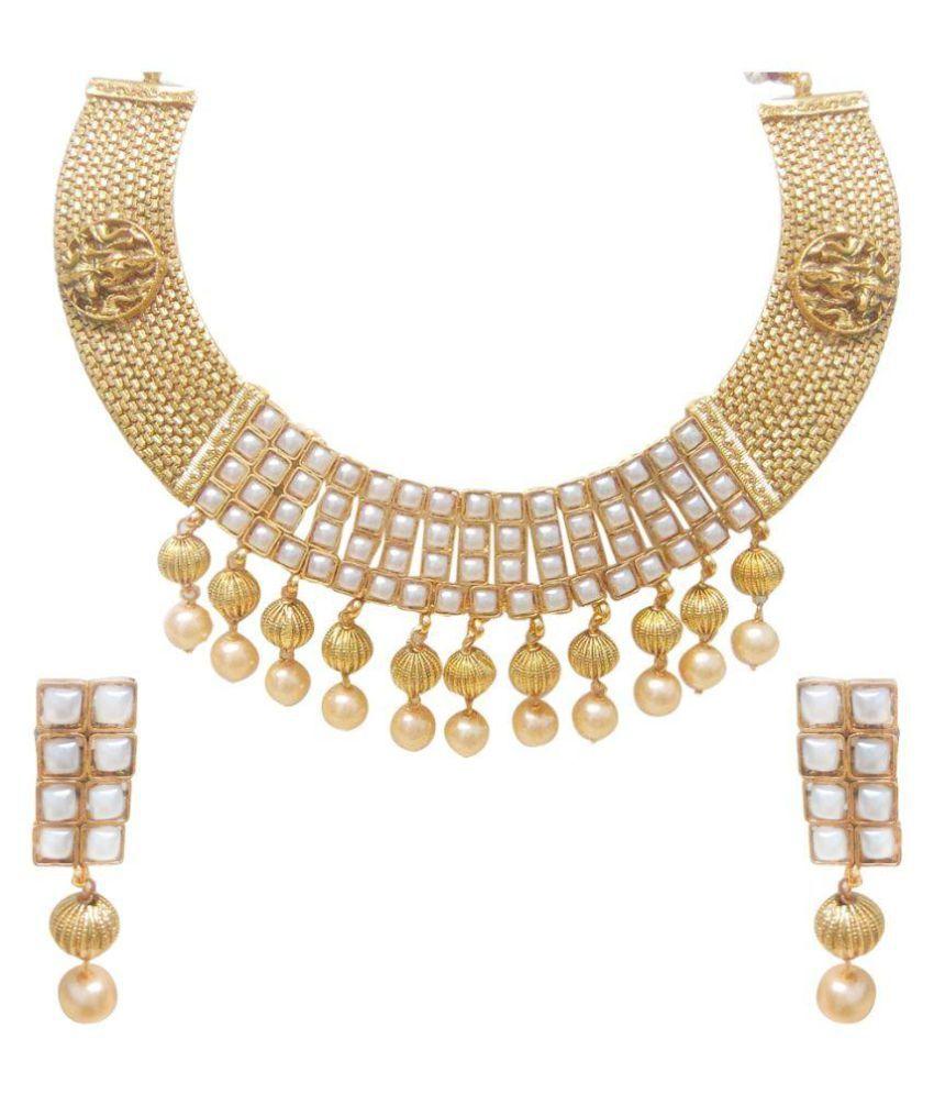 Carrydreams Golden Alloy Necklaces Set