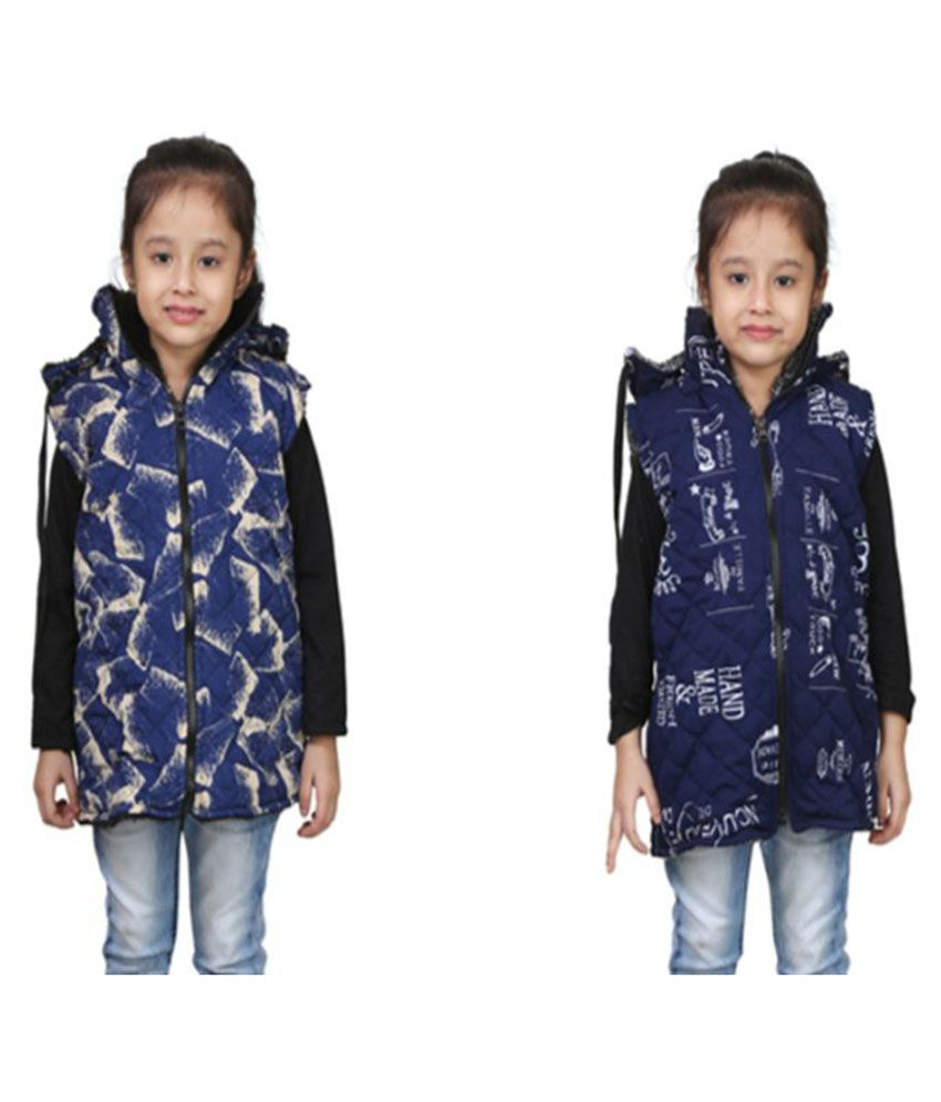 Crazeis Blue Nylon Jackets - Pack of 2