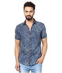 Mufti Blue Casuals Slim Fit Shirt