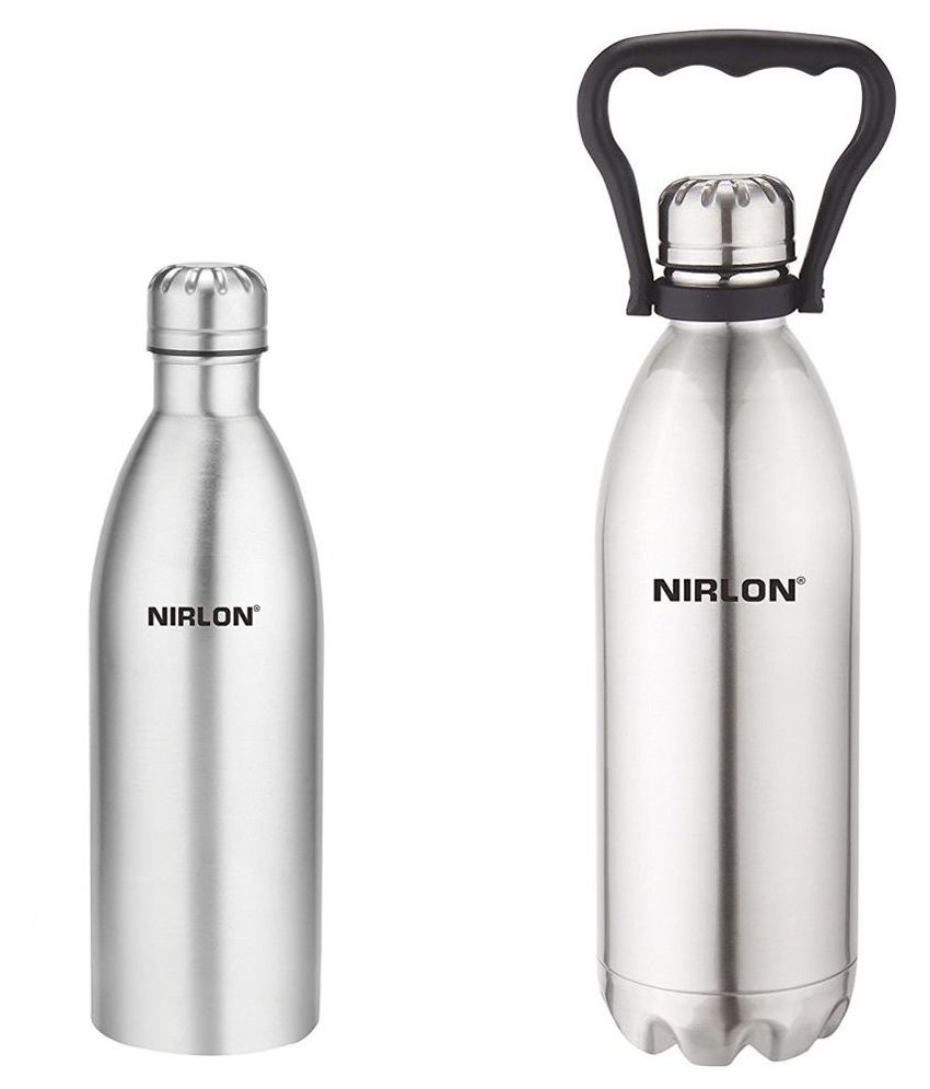 a1fdc6b5e9d Nirlon Vacuum Thermosteel Bottle 1000 ml and Bottle 1500ml Hot and Cold Stainless  Steel Silver  Buy Online at Best Price in India - Snapdeal