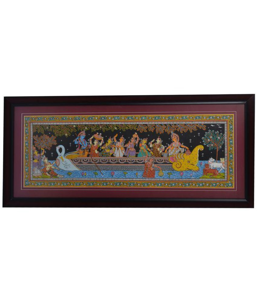 Attica Interio Pattachitra Fabric Painting With Frame Single Piece
