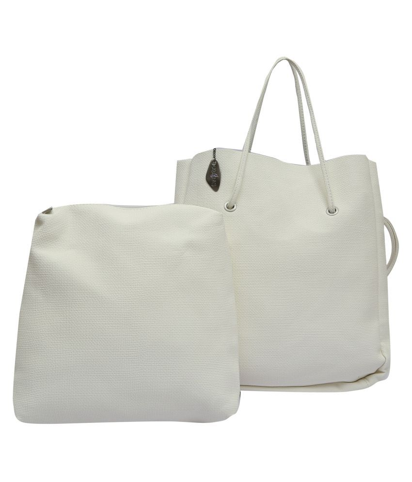 Pep Girls White P.U. Shoulder Bag