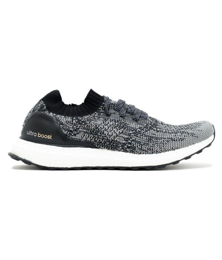 reputable site b0cac 8409a Adidas Ultra Boost Uncaged Gray Running Shoes