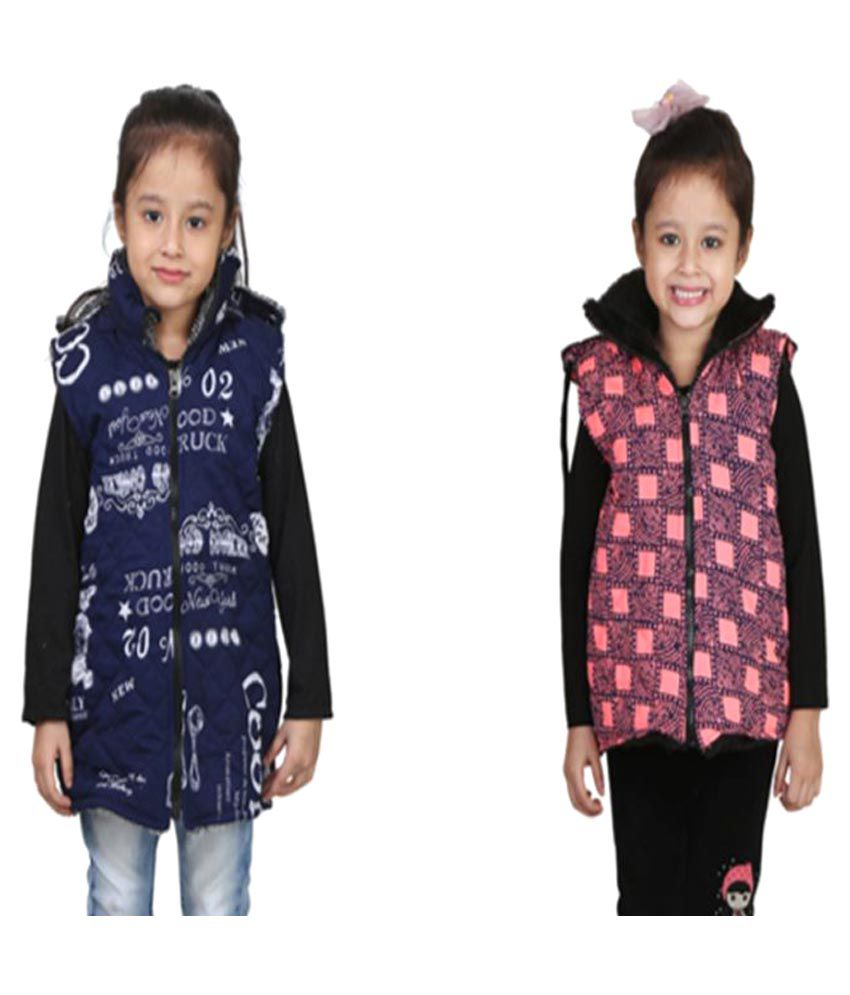 Crazeis Multicolor Quilted & Bomber Jacket - Pack of 2