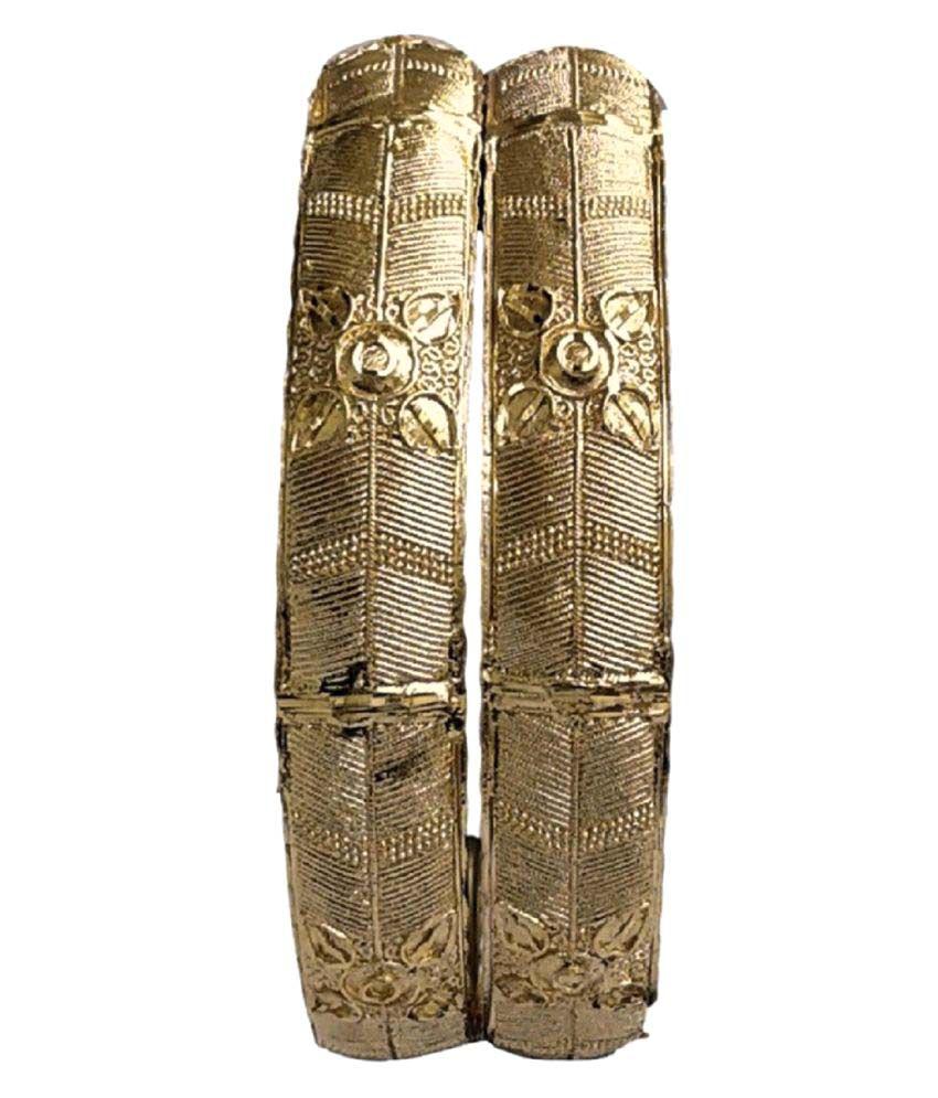 Indian Fashions Golden Kada Set of 2