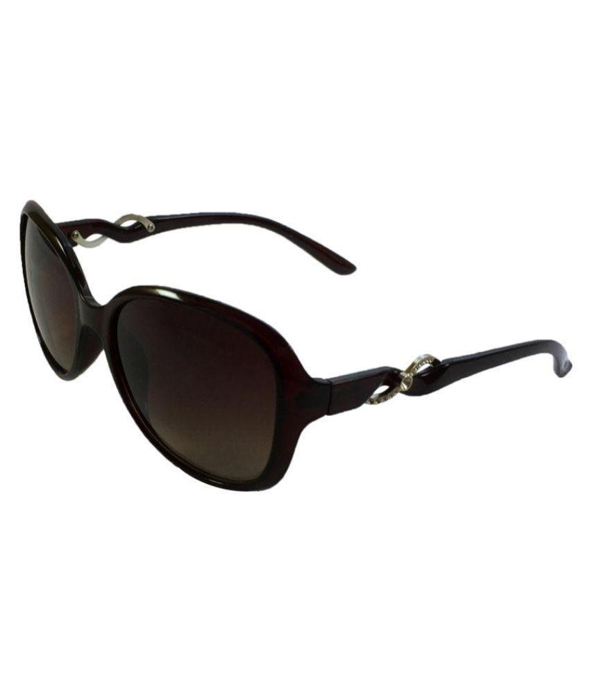Juria Brown Oval Sunglasses iz192-08-13-brwn