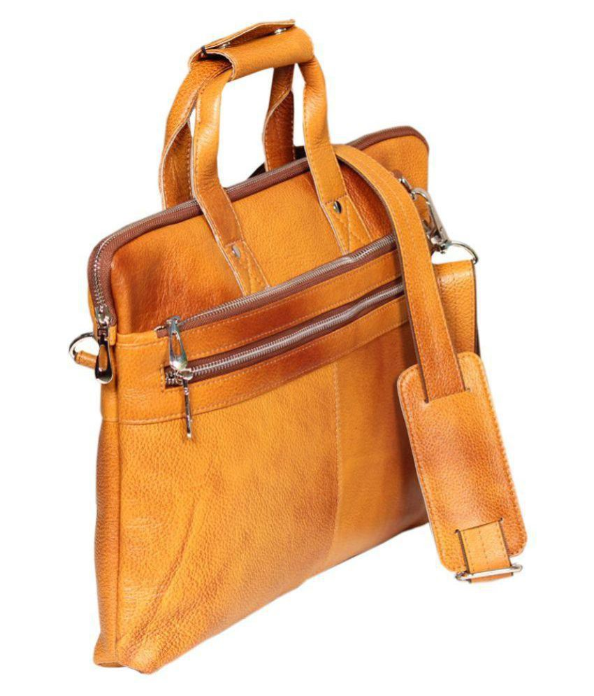 Leather World Tan Laptop Sleeves