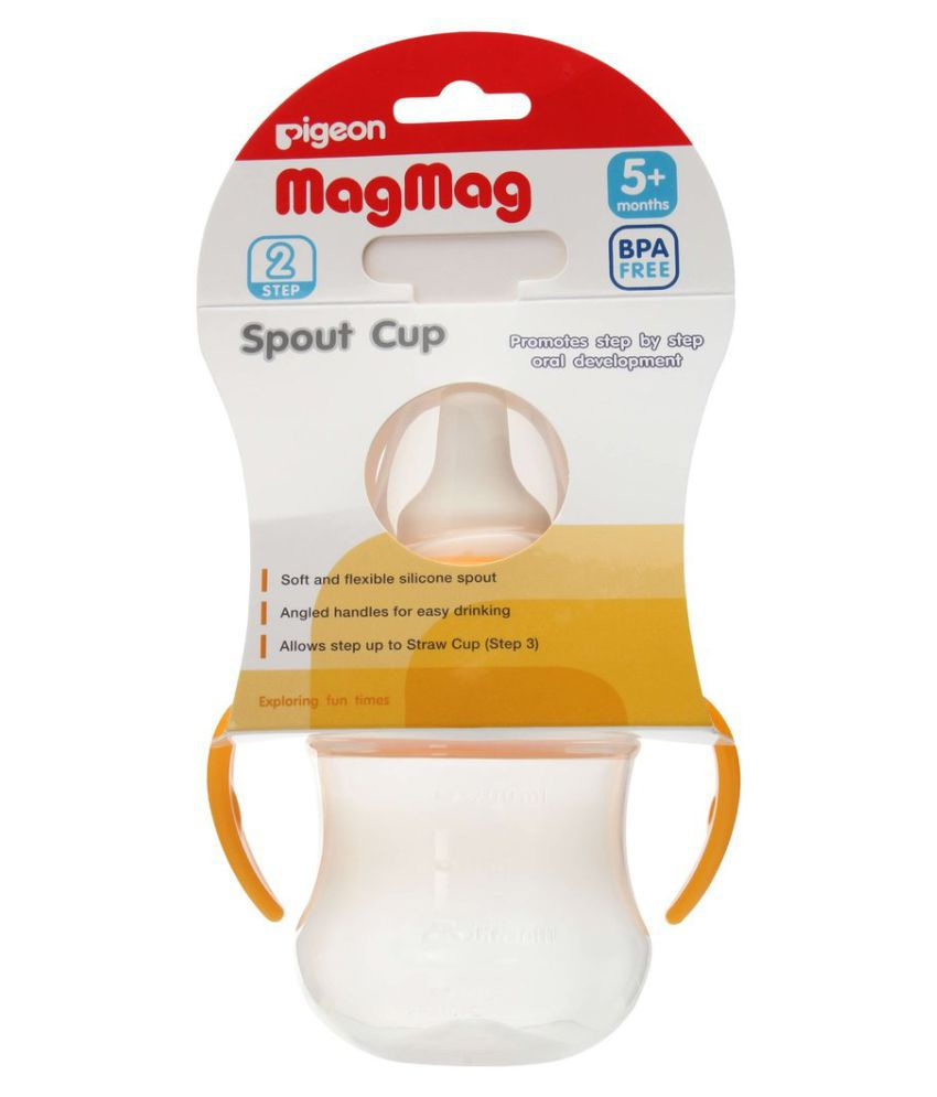 Pigeon Baby Yellow Plastic Spout Sippers baby sipper ...