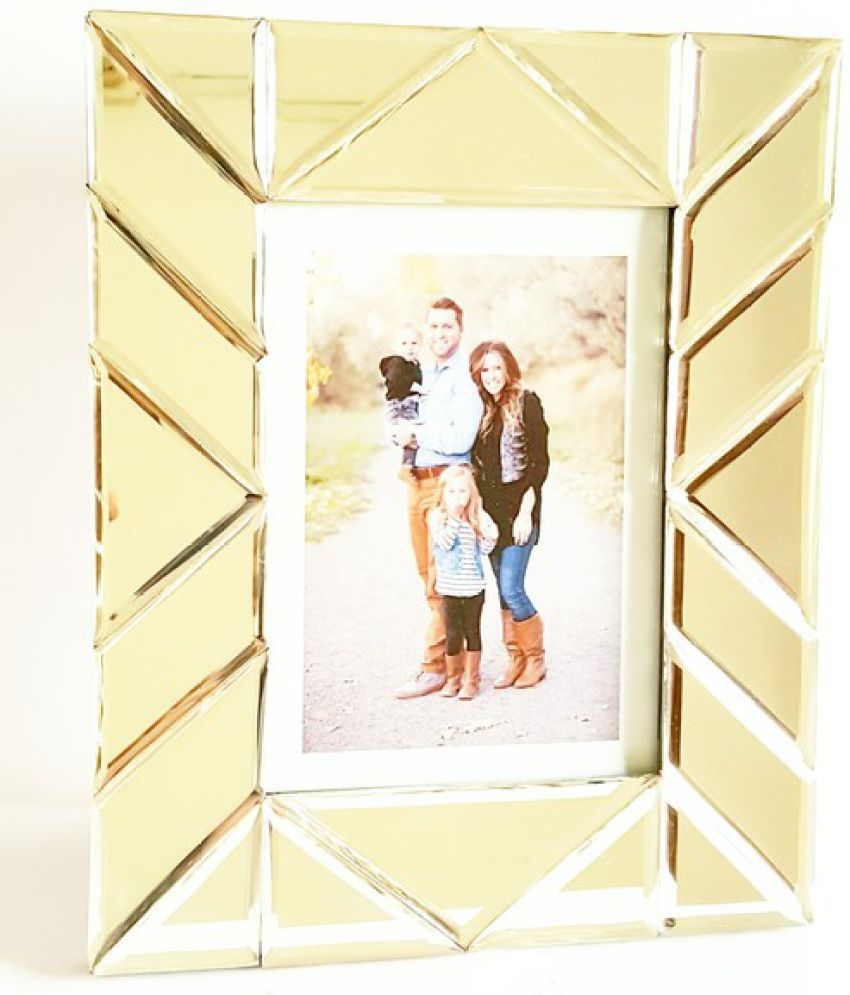 Quality Glass MDF Table Top & Wall hanging Silver Single Photo Frame