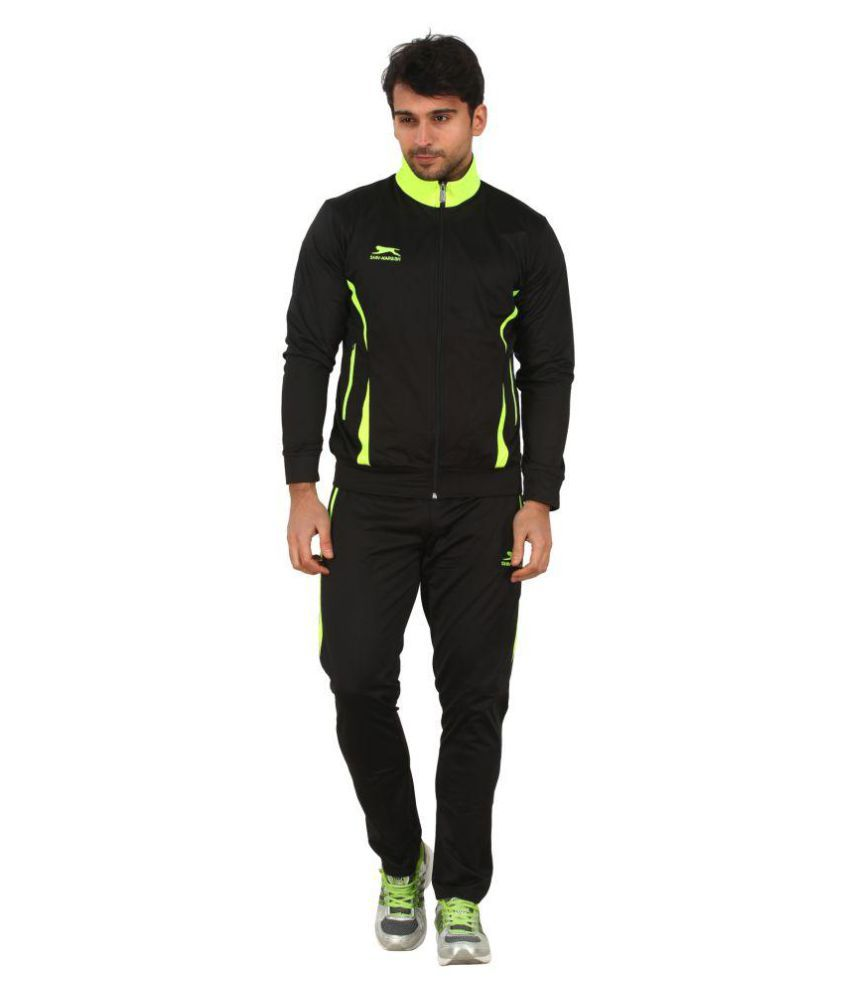 Shiv Naresh Black Green Track Suits