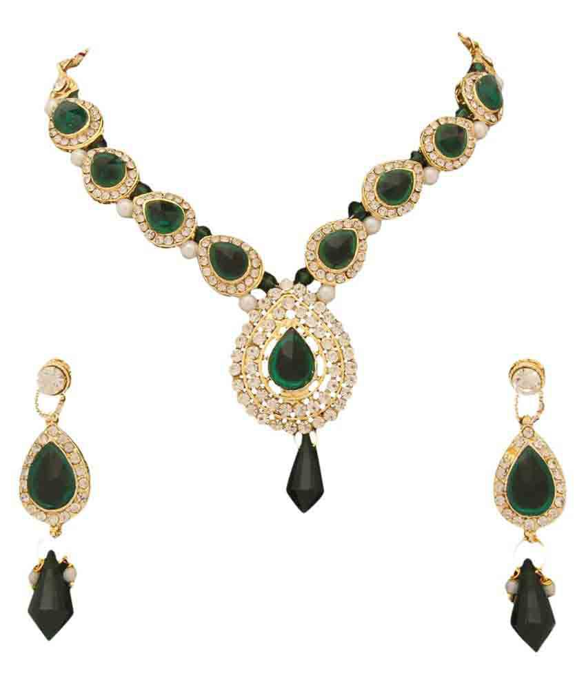 Ishin Multicolour Stone Studded Necklace Set