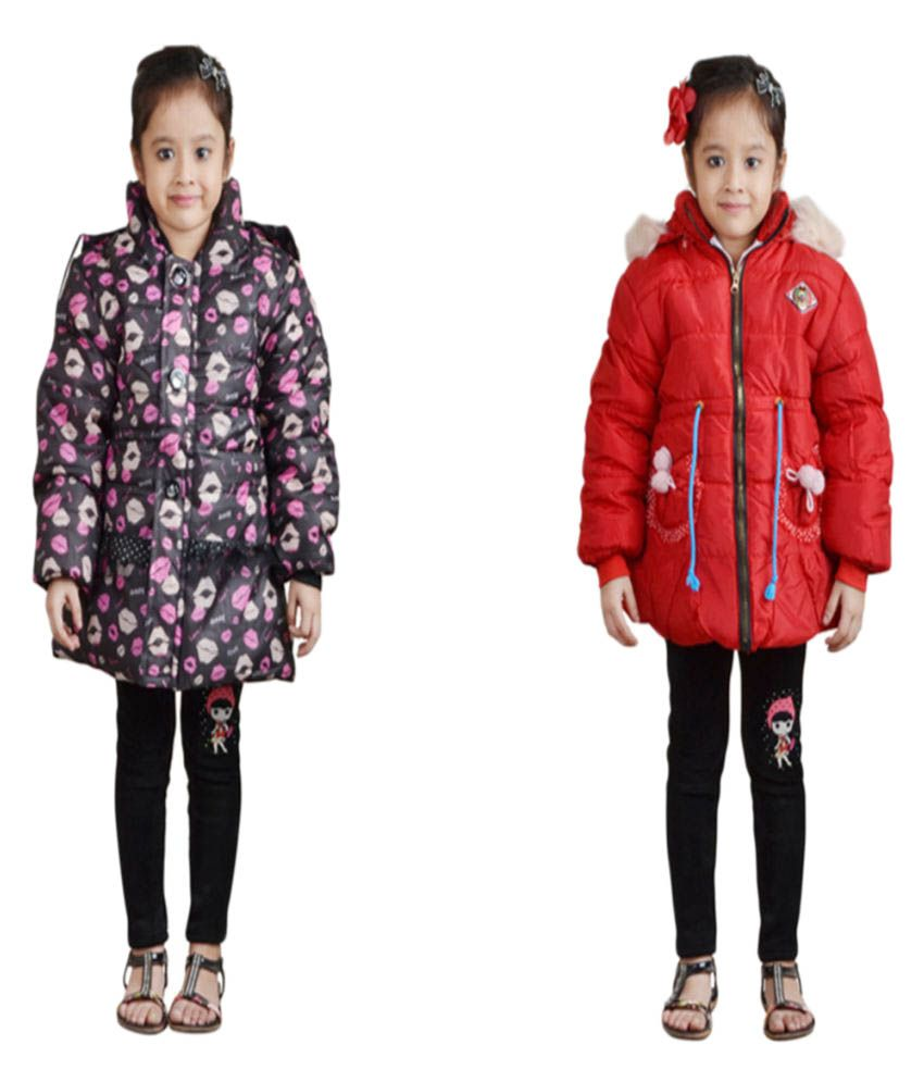 Crazeis Multicolour Quilted & Bomber Jacket - Pack of 2