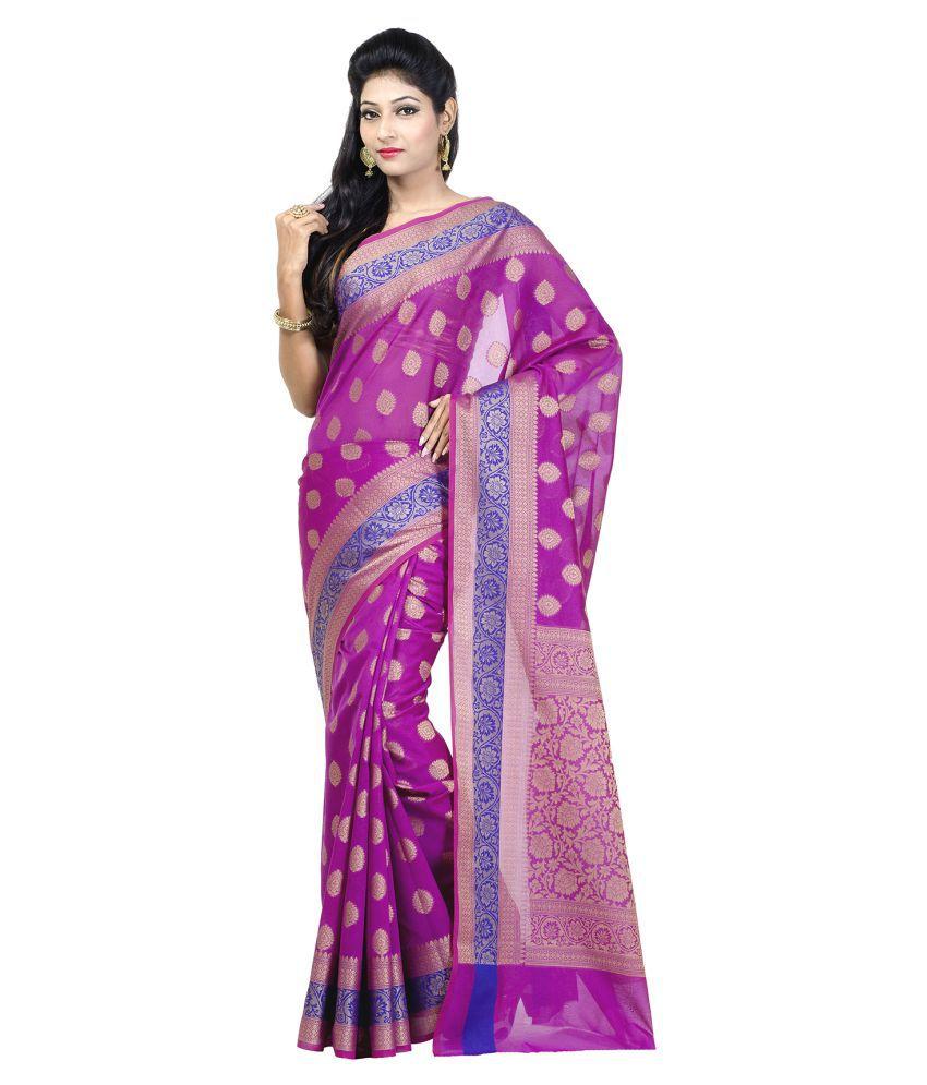 Chandrakala Pink Cotton Silk Saree