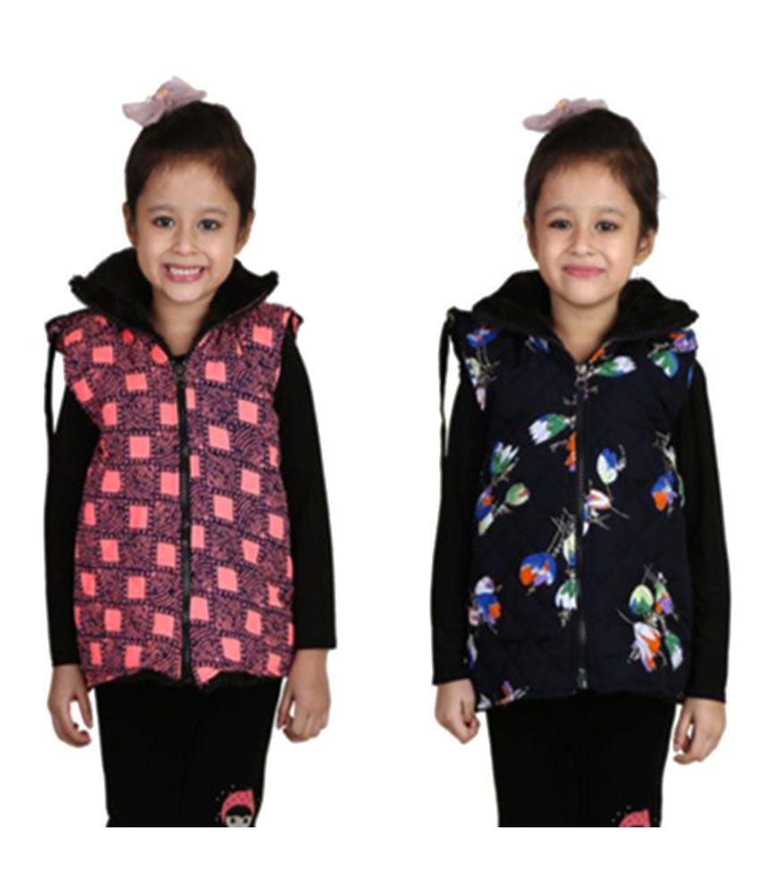 Crazies Multicolor Half Jacket - Pack of 2