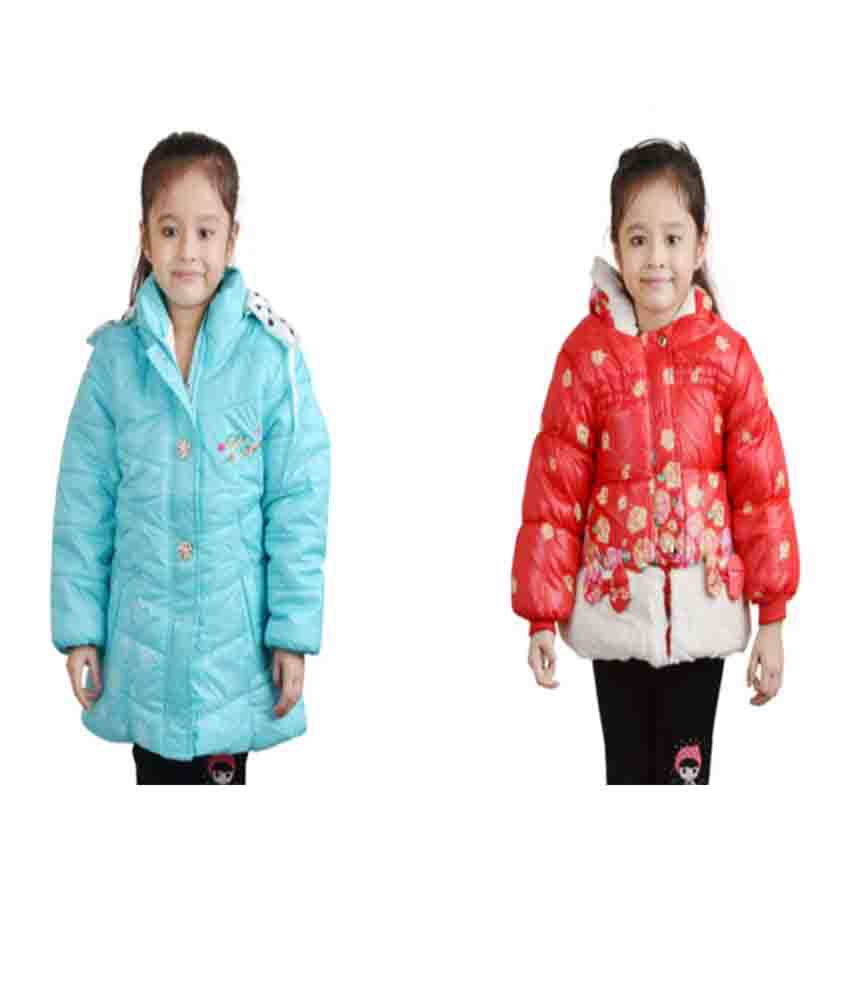 Qeboo Full Sleeves Combo of 2 Nylon Jackets