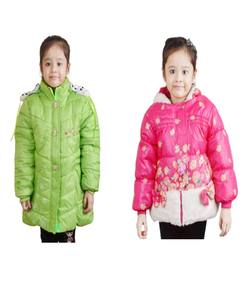 Crazeis Jackets For Girls - Pack of 2