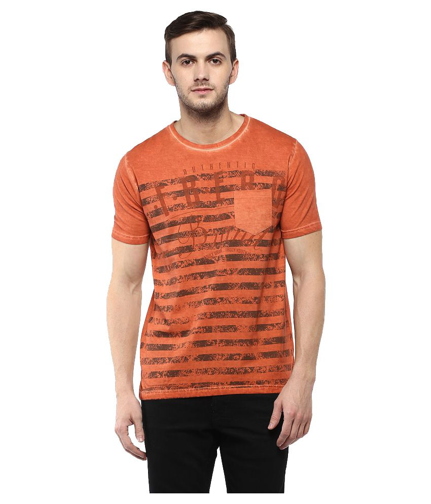 Fritzberg Orange Round T-Shirt