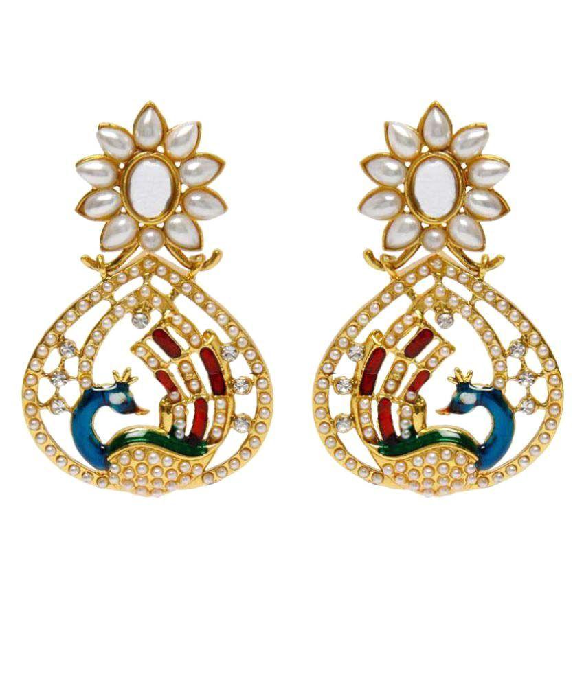 Styylo Fashion Golden Chandeliers Earrings