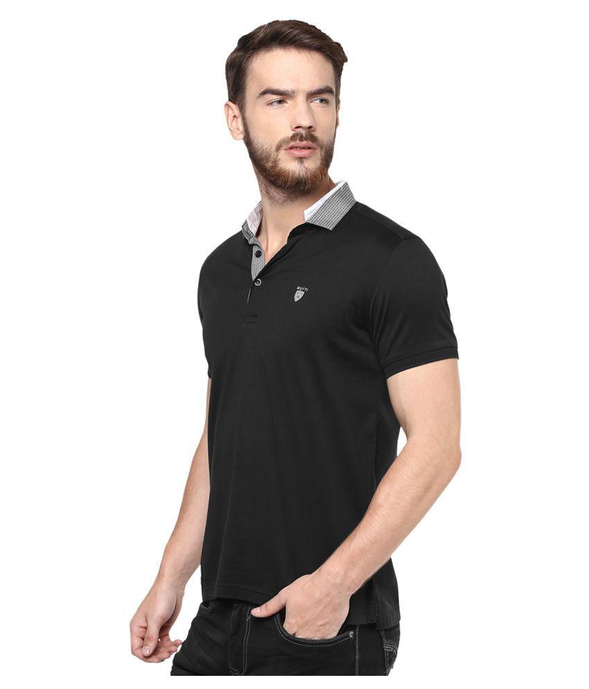 6fddb190a269 Mufti Black Slim Fit Polo T Shirt - Buy Mufti Black Slim Fit Polo T ...