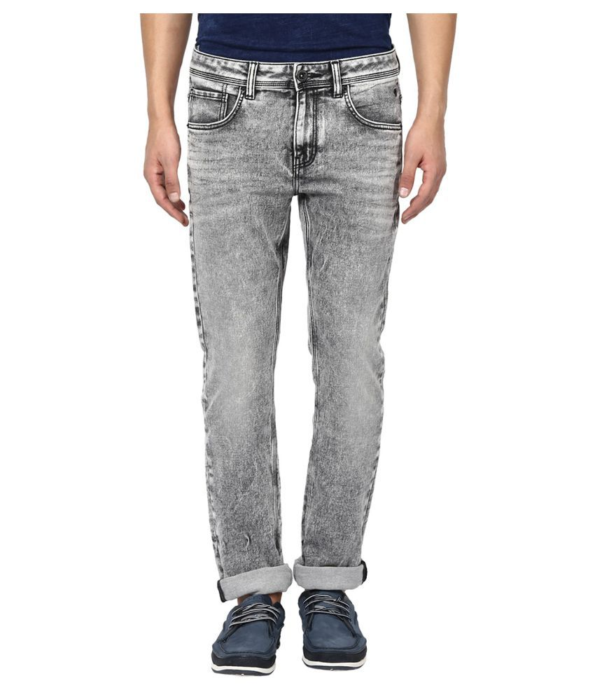 Mufti Grey Regular Fit Jeans