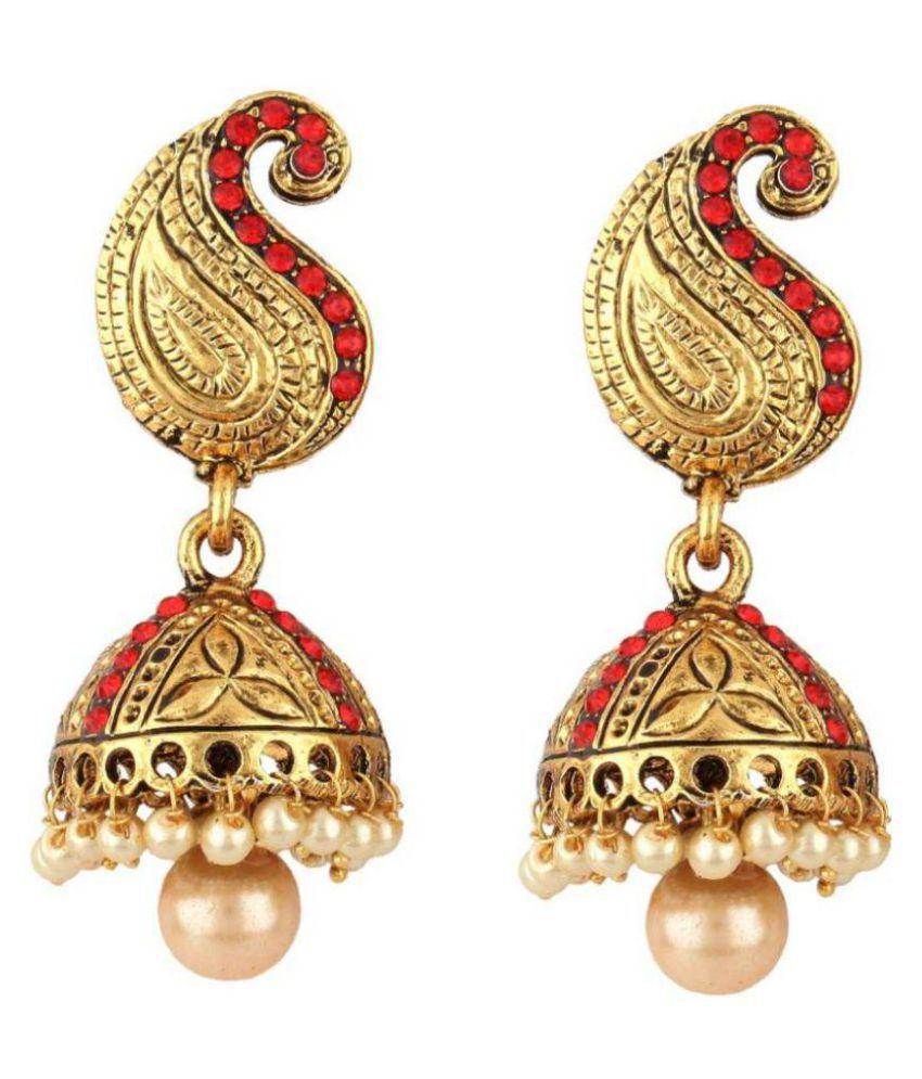 Jewels Gehna Golden Jhumki Earrings Single Pair