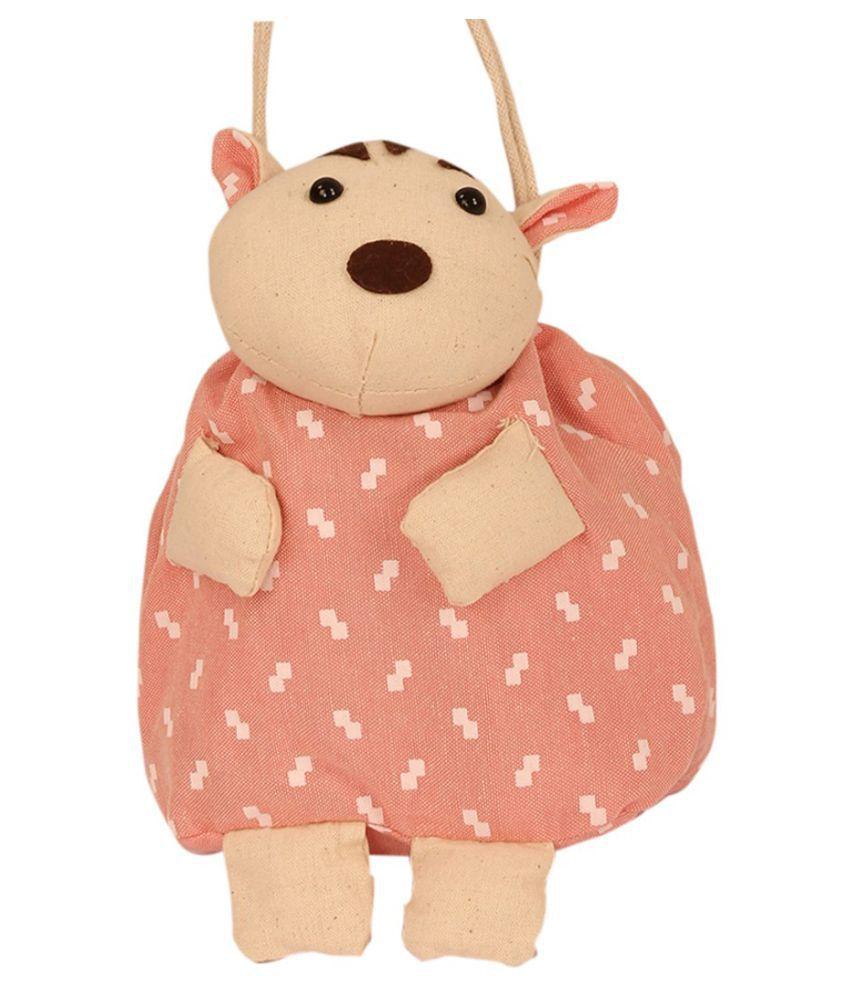 TLF Pink Cotton Soft Backpack School Bag