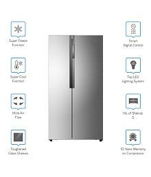 Haier 565 Ltr HRF-618SS Side by Side Refrigerator - Stainless Steel