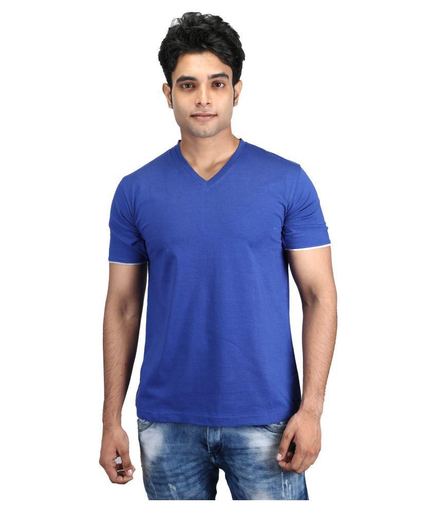 Helixteez Blue V-Neck T-Shirt