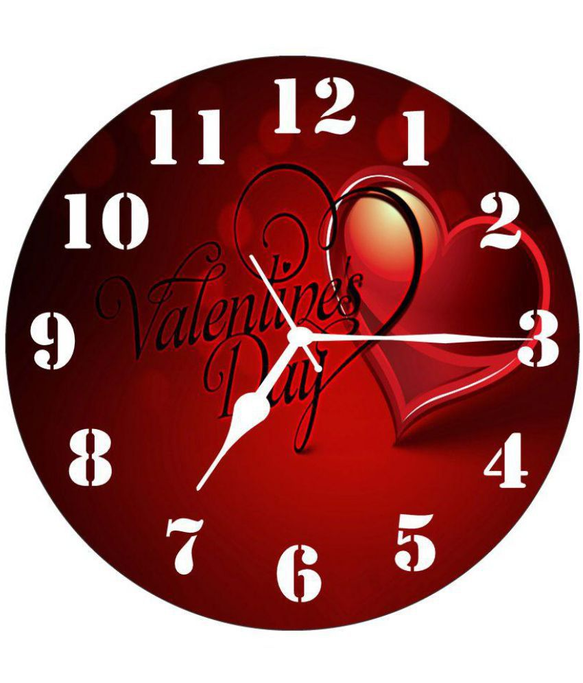 3d India Circular Analog Wall Clock 3d Heart For Valatine 30 Buy