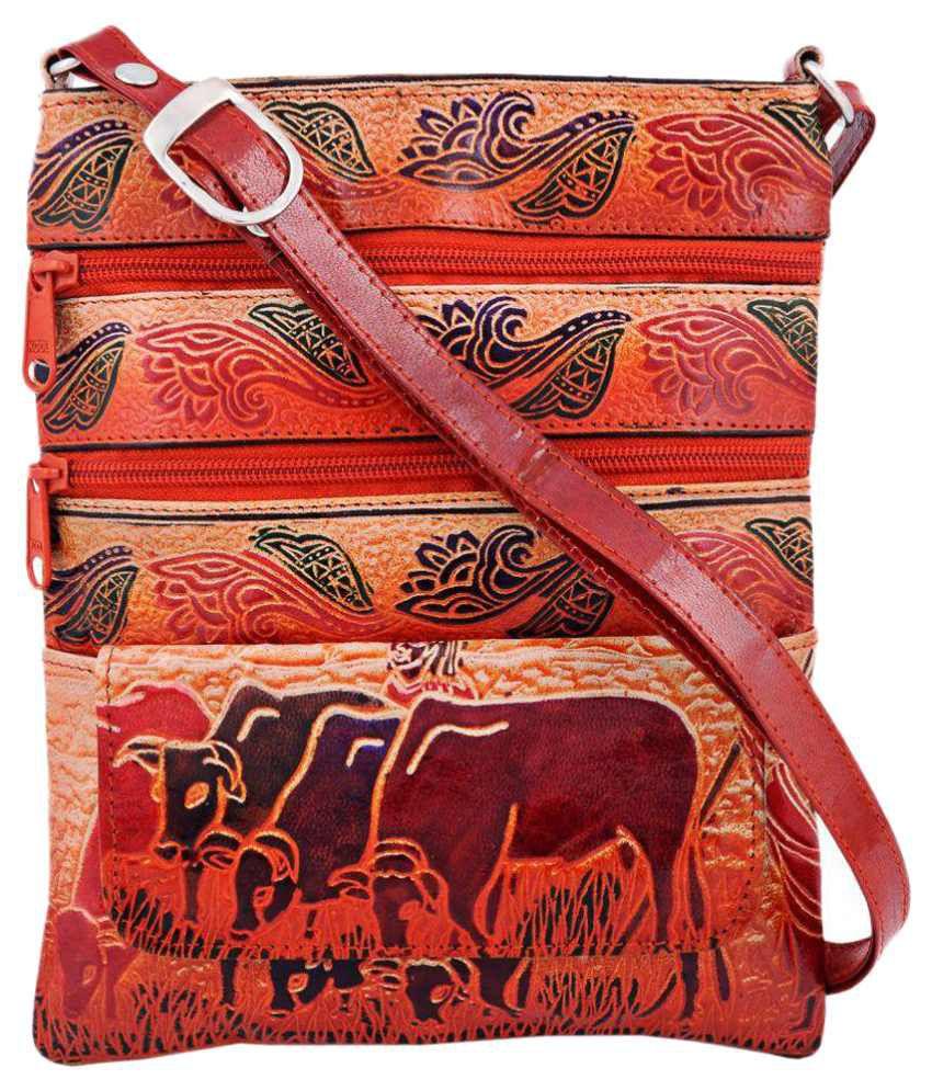 Zint Multi Pure Leather Sling Bag