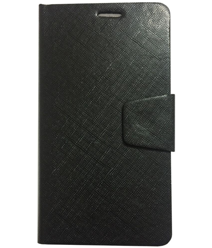 Lenovo A706 Flip Cover by Lomoza - Black