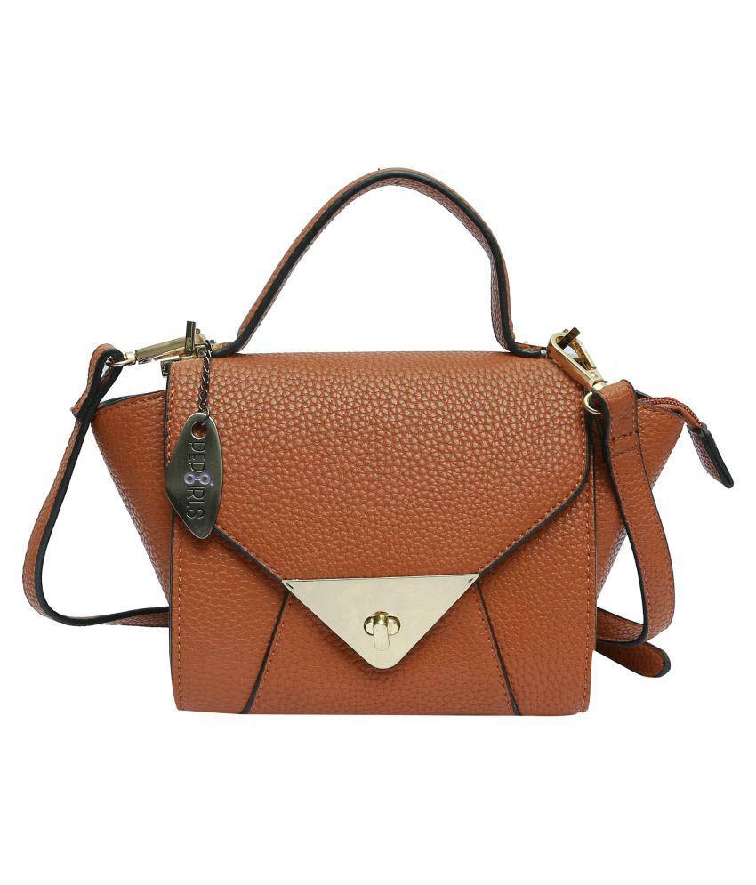 Pep Girls Brown P.U. Sling Bag