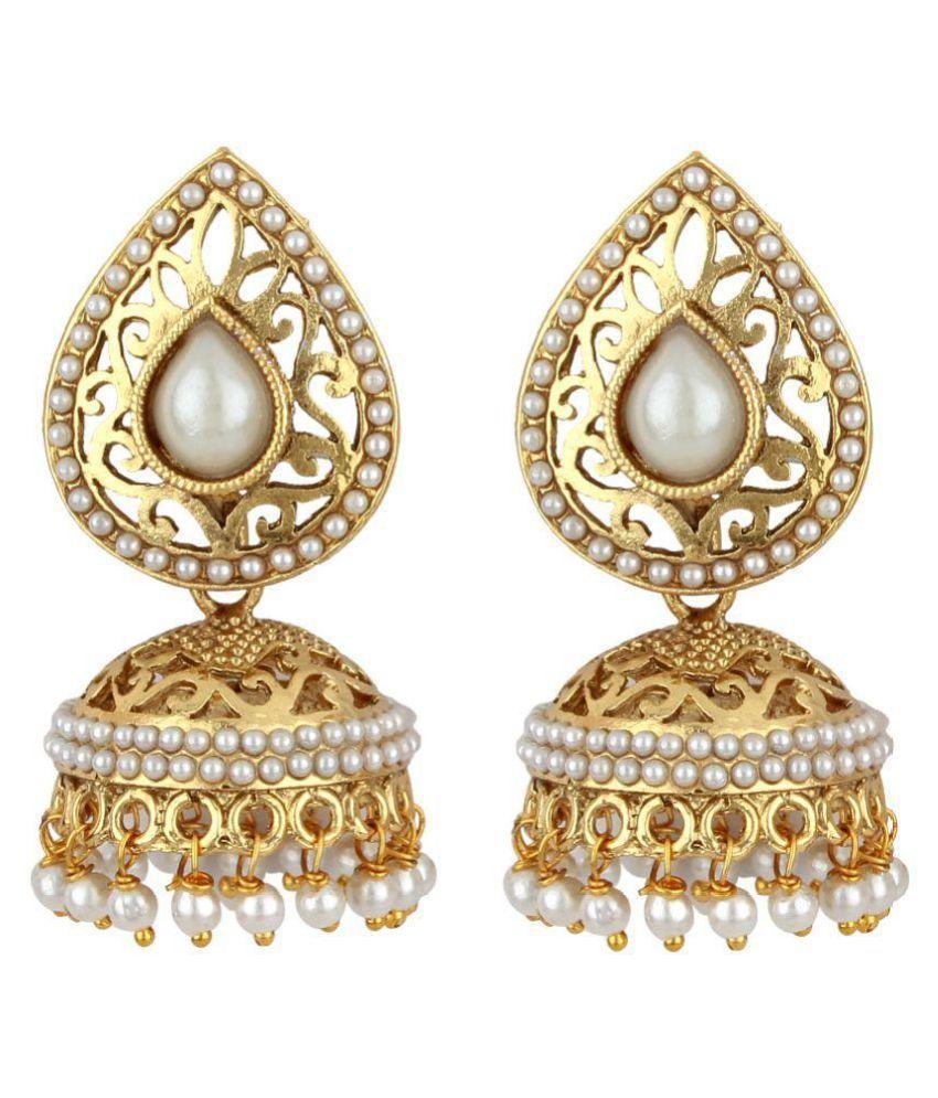 Jewels Guru Golden Earrings