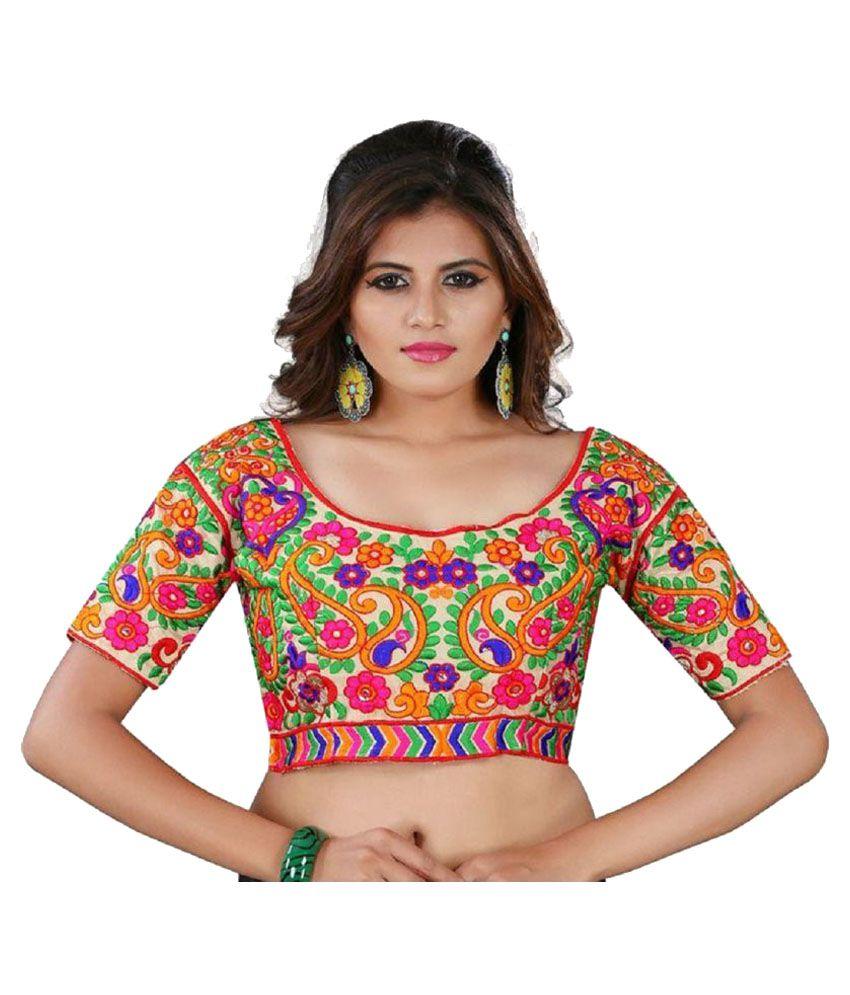 Womens Ethnic Multicoloured Blouse