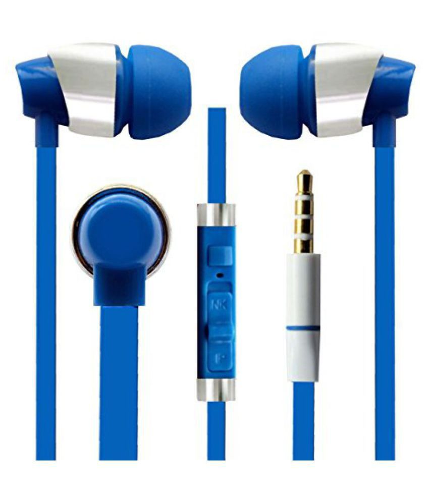 Hello Zone Sporty look and Comfort Fit Stereo Headset Handsfree Headphone Earphone with Mic 3.5 MM Jack for Xiaomi V1 Max -Blue