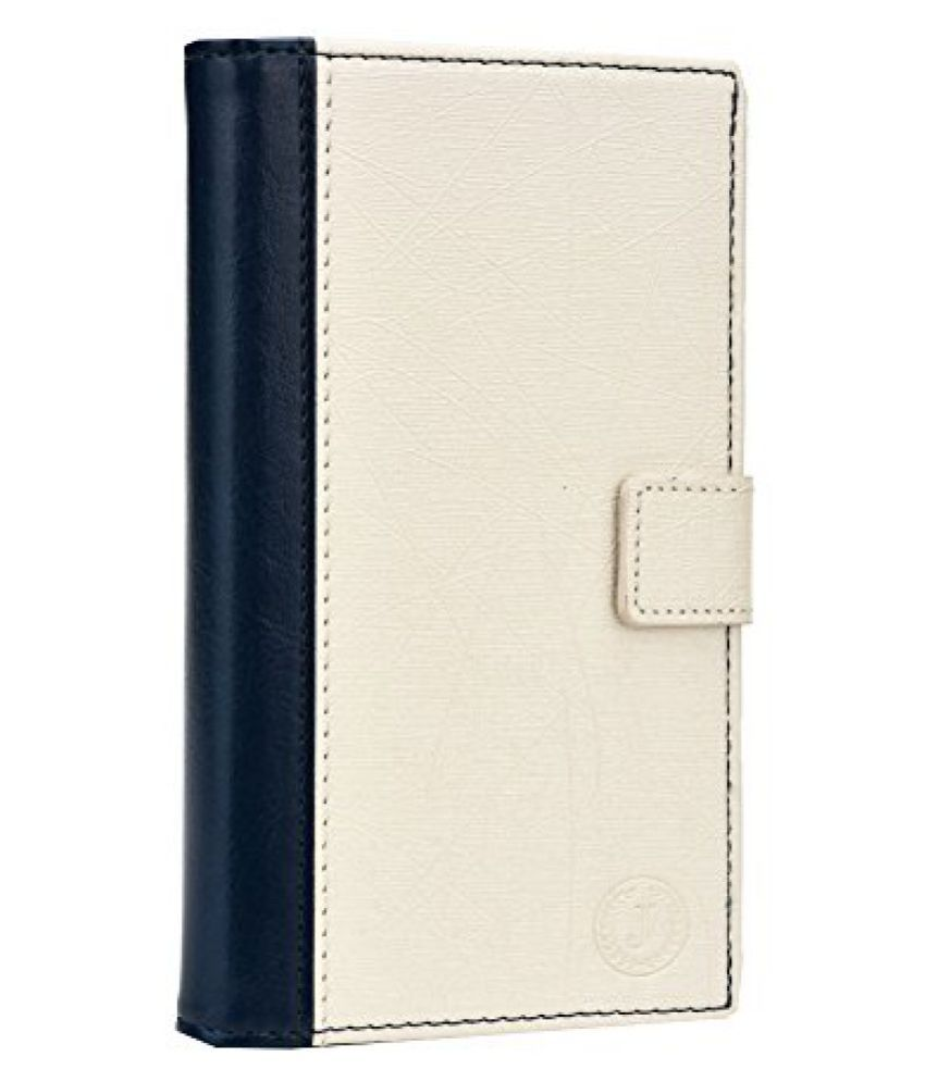 J Saturn Series Cover Leather Pouch Flip Case For XiaomiMi 5s Dark Blue White