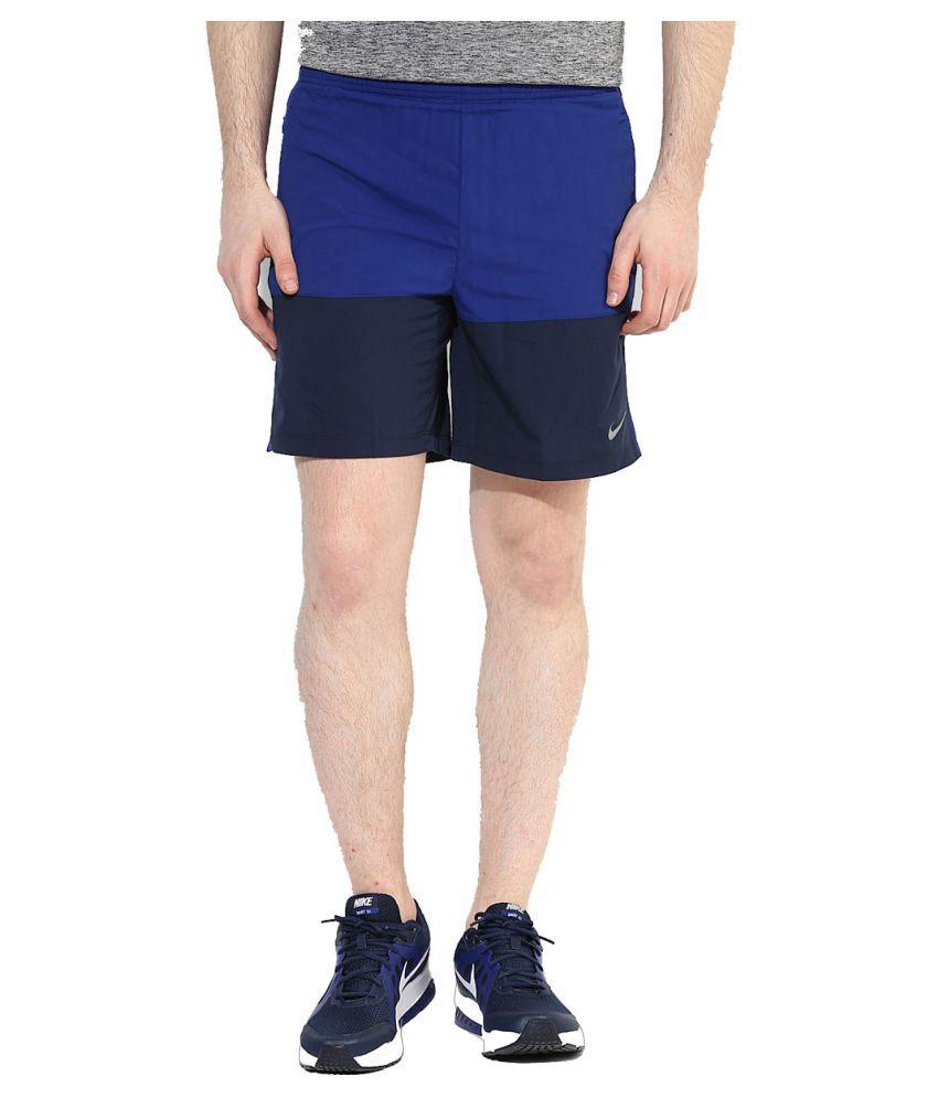 Nike 7 Distance Men's Short (Sp15) - Nav Blue