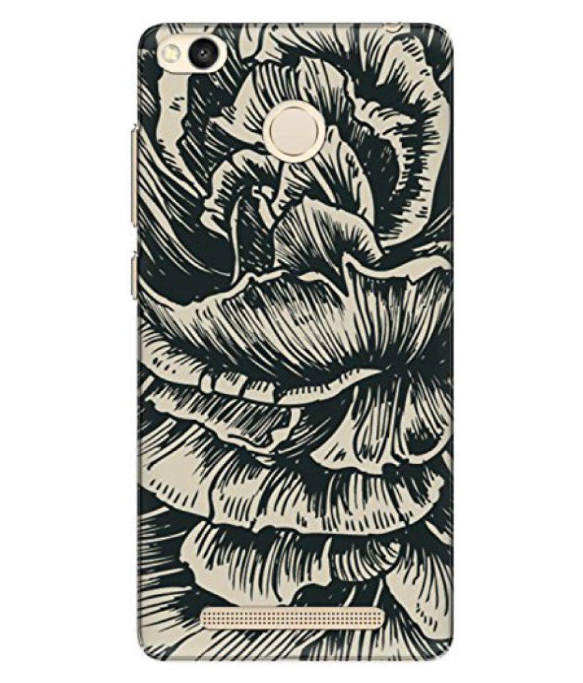The Racoon Lean printed designer hard back mobile phone case cover for Xiaomi Redmi 3S Prime / Xiaomi Redmi 3 Pro. (rose sketc)