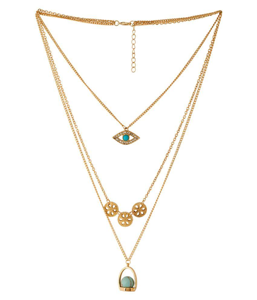 Voylla Golden Alloy Necklace