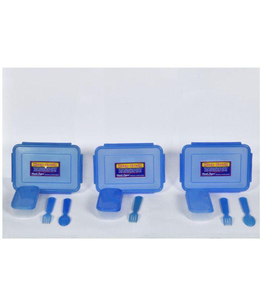 Harshpet Blue Polypropylene (PP) Lunch Box