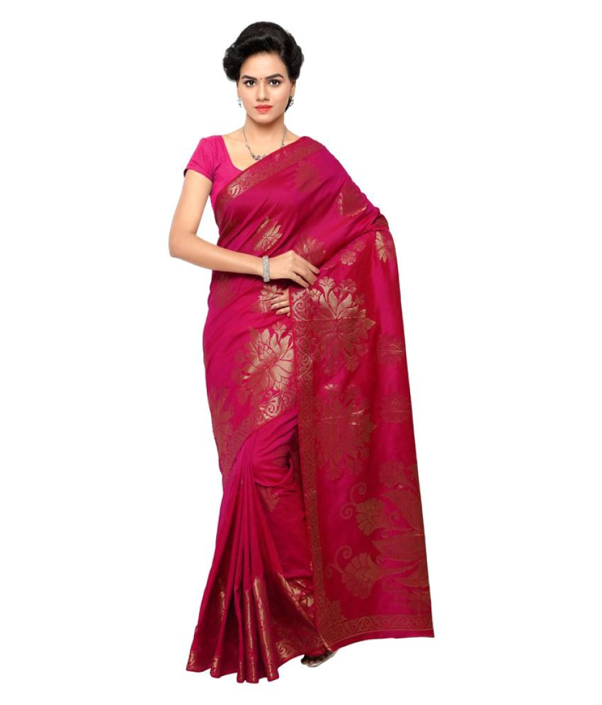 Makewayin Pink South Silk Saree