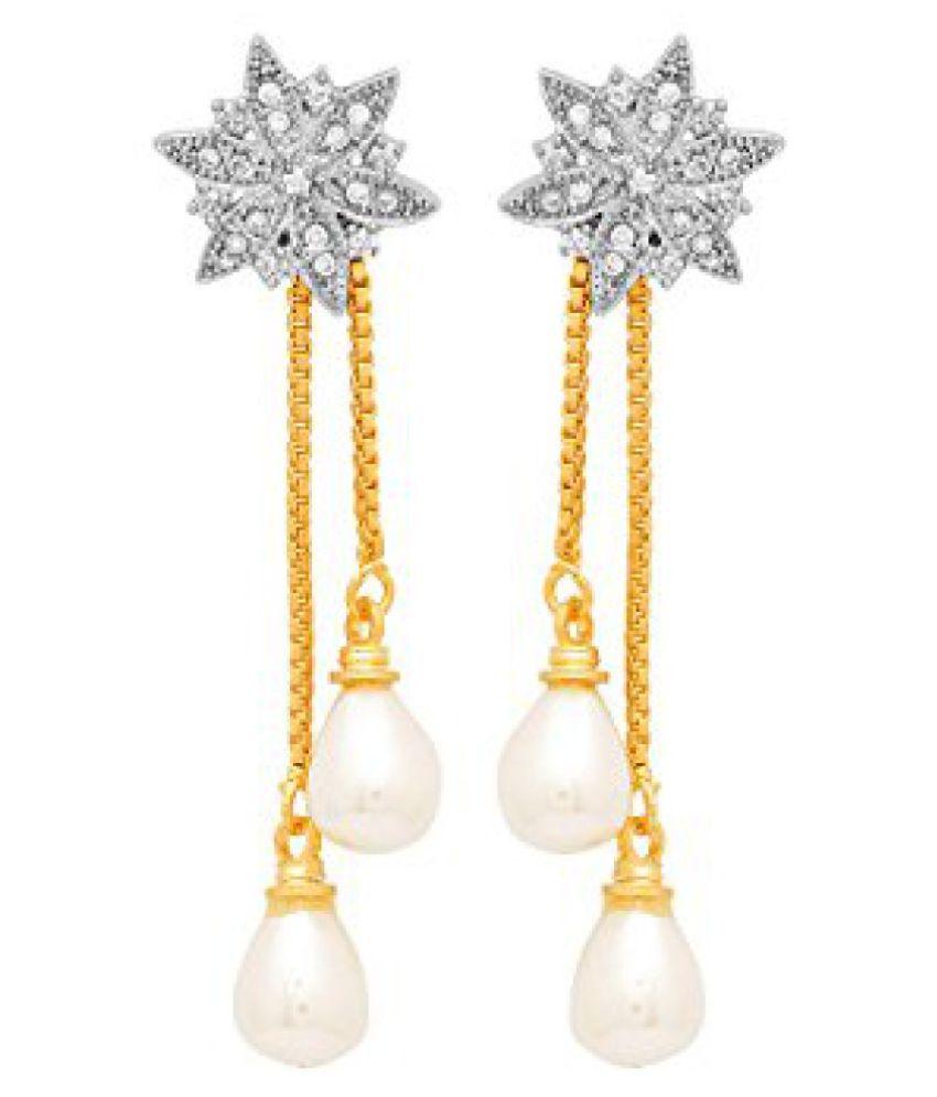 Voylla Floral Base Designer Dangler Earrings