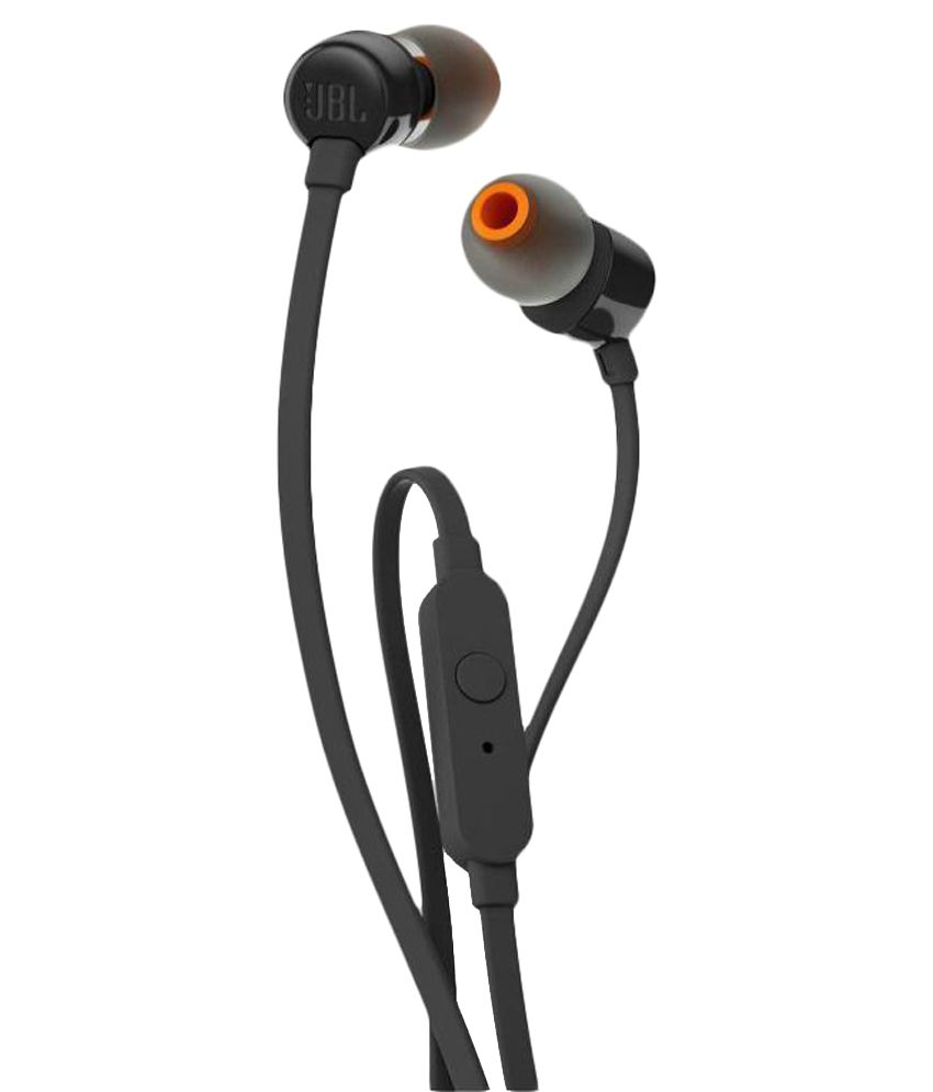 71e2381a30f JBL T110 A In Ear Wired Earphones With Mic Black Handsfree - Buy JBL T110 A  In Ear Wired Earphones With Mic Black Handsfree Online at Best Prices in  India ...